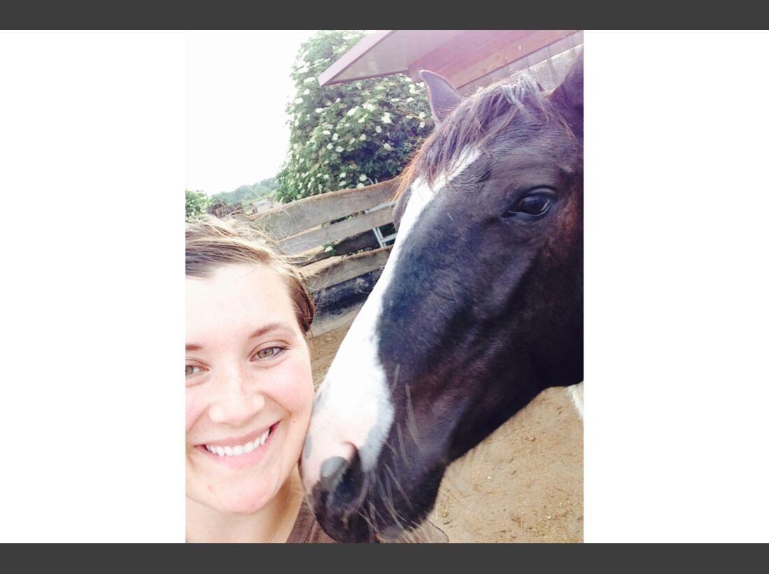 CAV Leserfotos Selfie Pferde Lisa Schiller