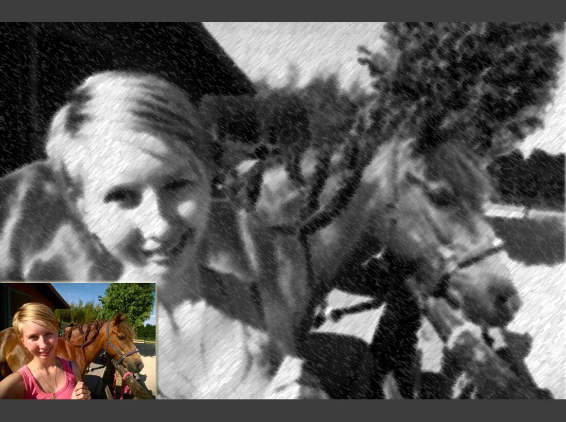 CAV Selfies Pferde Jessy